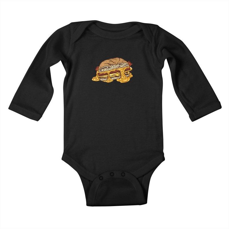 Baconeggandcheese Kids Baby Longsleeve Bodysuit by Tripledead Shop