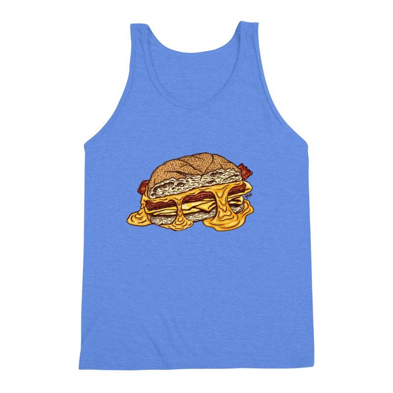 Baconeggandcheese Men's Triblend Tank by Tripledead Shop