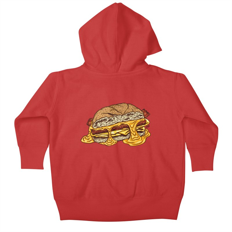 Baconeggandcheese Kids Baby Zip-Up Hoody by Tripledead Shop