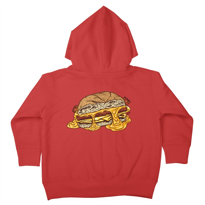 Baconeggandcheese Kids Toddler Zip-Up Hoody by Tripledead Shop