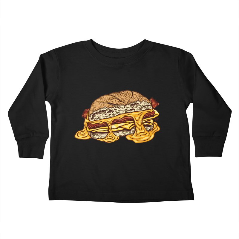 Baconeggandcheese Kids Toddler Longsleeve T-Shirt by Tripledead Shop