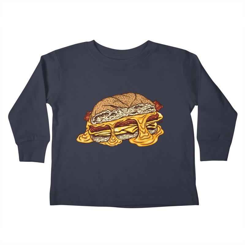 Baconeggandcheese Kids Toddler Longsleeve T-Shirt by Tripledead Shop