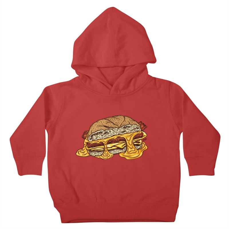 Baconeggandcheese Kids Toddler Pullover Hoody by Tripledead Shop