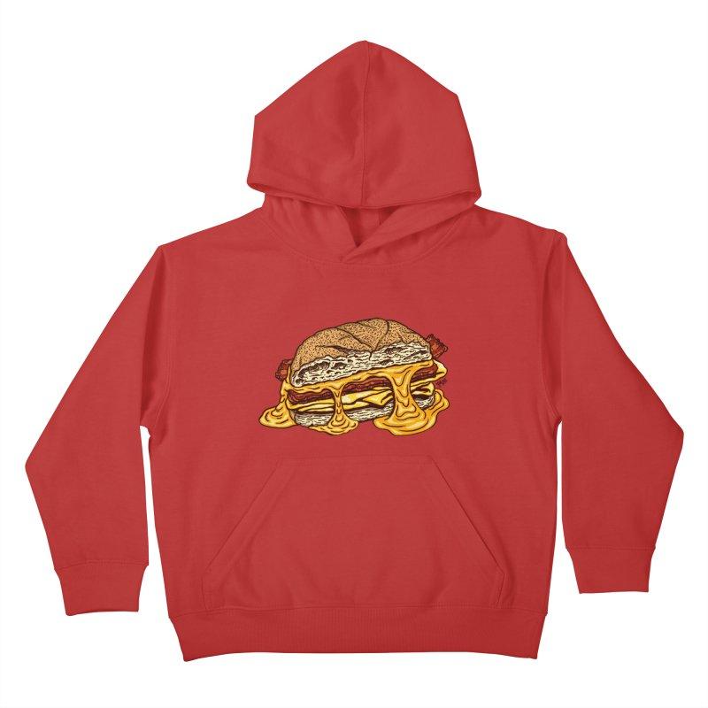 Baconeggandcheese Kids Pullover Hoody by Tripledead Shop