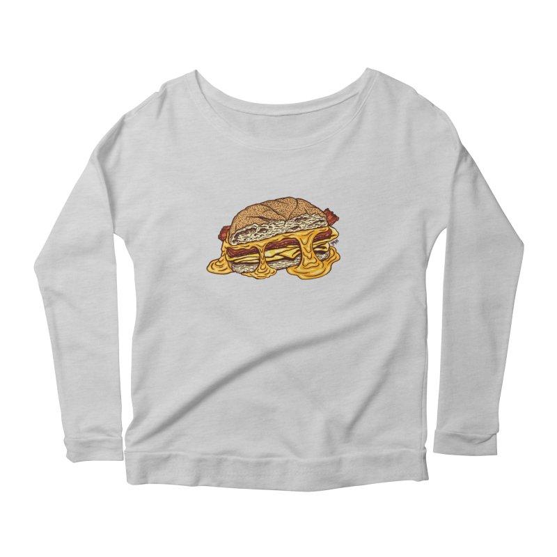 Baconeggandcheese Women's Scoop Neck Longsleeve T-Shirt by Tripledead Shop
