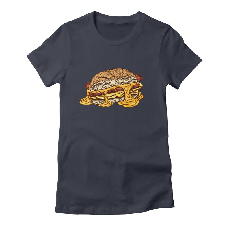 Baconeggandcheese Women's Fitted T-Shirt by Tripledead Shop