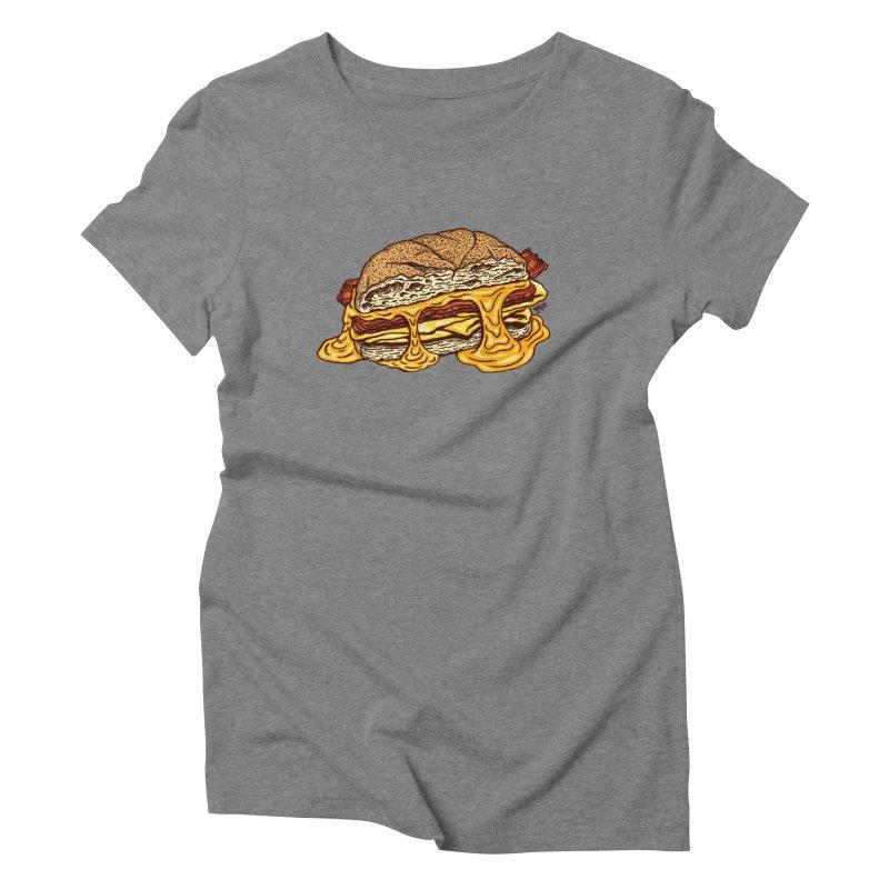 Baconeggandcheese Women's Triblend T-Shirt by Tripledead Shop