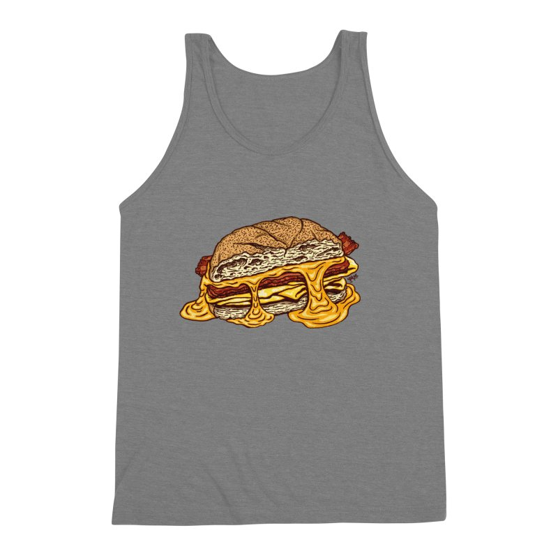 Baconeggandcheese Men's Triblend Tank by Tripledead Shop
