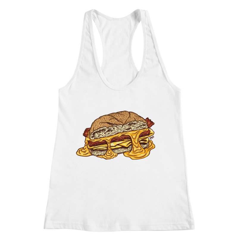 Baconeggandcheese Women's Racerback Tank by Tripledead Shop