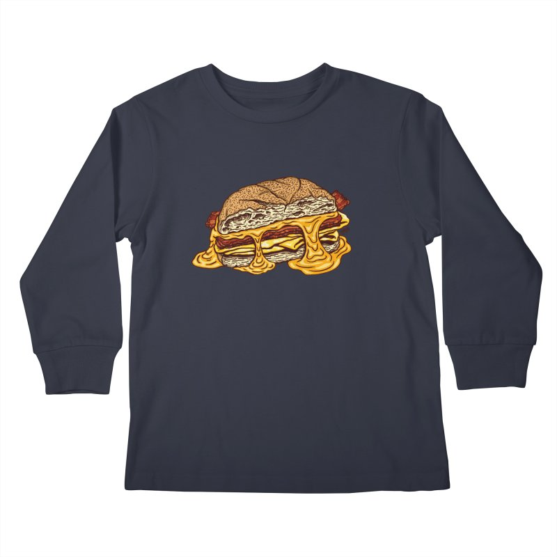 Baconeggandcheese Kids Longsleeve T-Shirt by Tripledead Shop