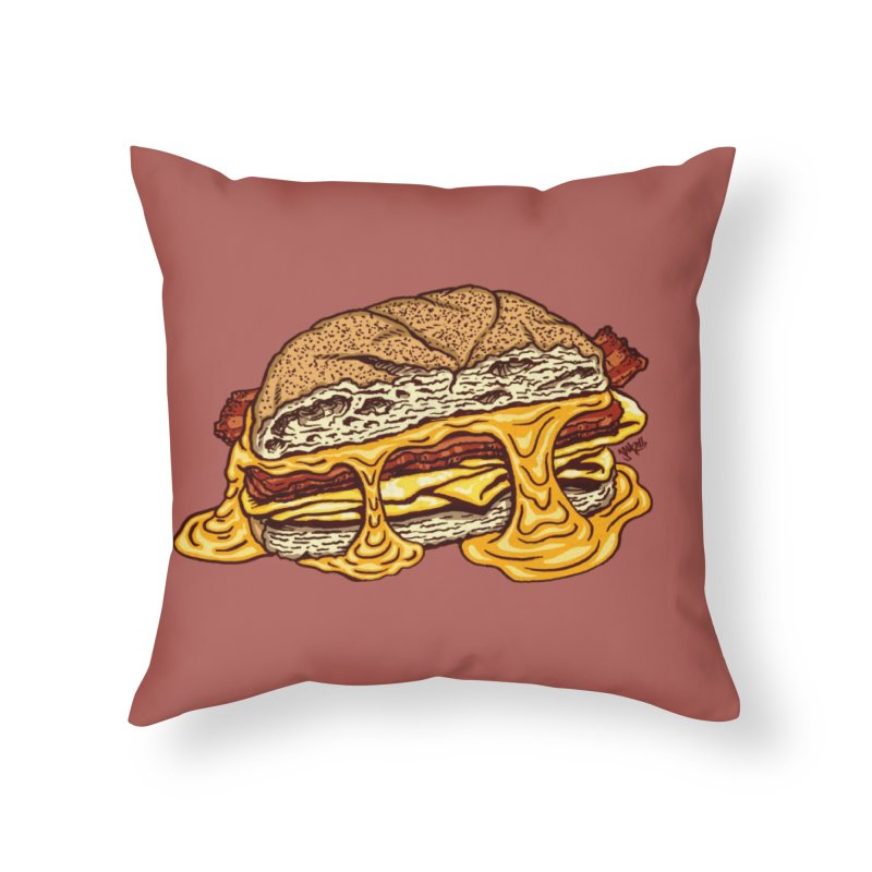 Baconeggandcheese Home Throw Pillow by Tripledead Shop