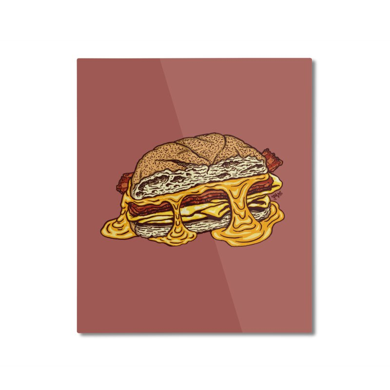 Baconeggandcheese Home Mounted Aluminum Print by Tripledead Shop