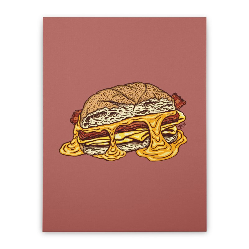 Baconeggandcheese Home Stretched Canvas by Tripledead Shop