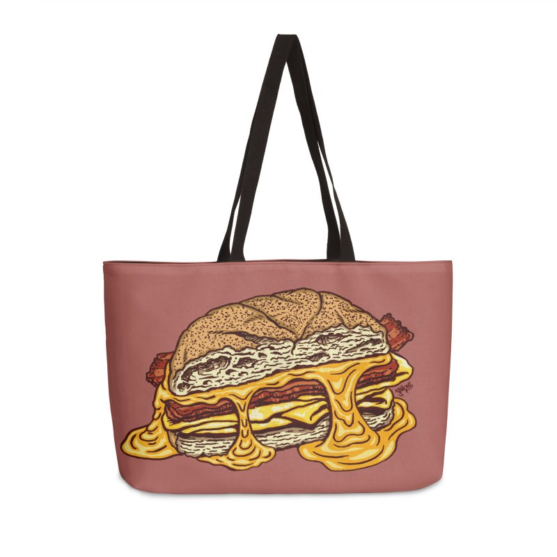 Baconeggandcheese Accessories Weekender Bag Bag by Tripledead Shop