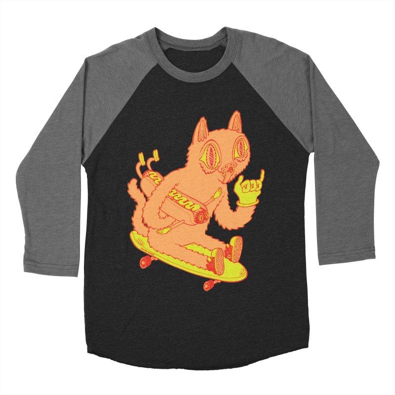Hot Doggin' Women's Baseball Triblend Longsleeve T-Shirt by Tripper Dungan's Artist Shop