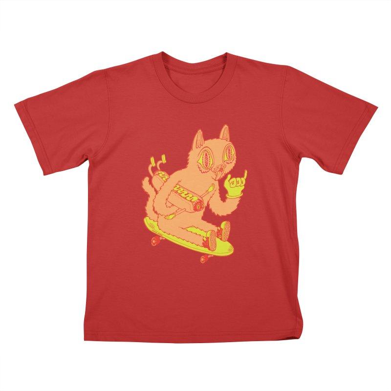 Hot Doggin' Kids T-Shirt by Tripper Dungan's Artist Shop