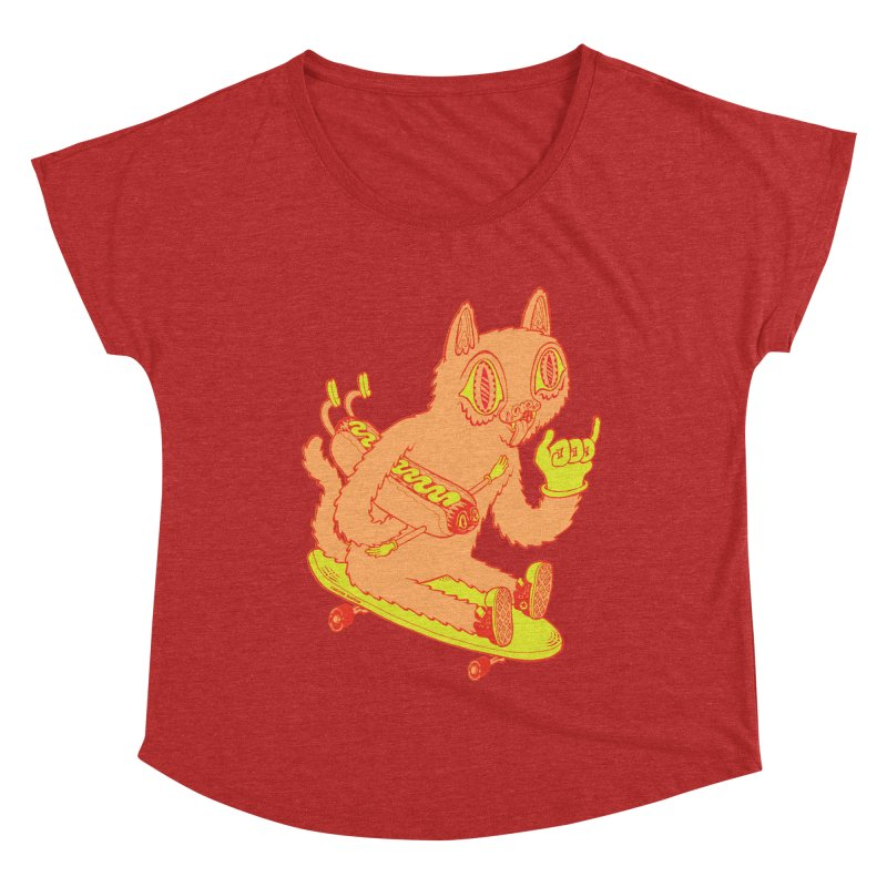 Hot Doggin' Women's Dolman Scoop Neck by Tripper Dungan's Artist Shop