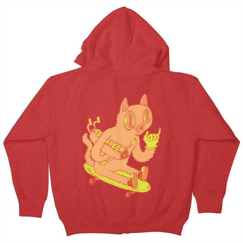 Hot Doggin' Kids Zip-Up Hoody by Tripperdungan's Artist Shop