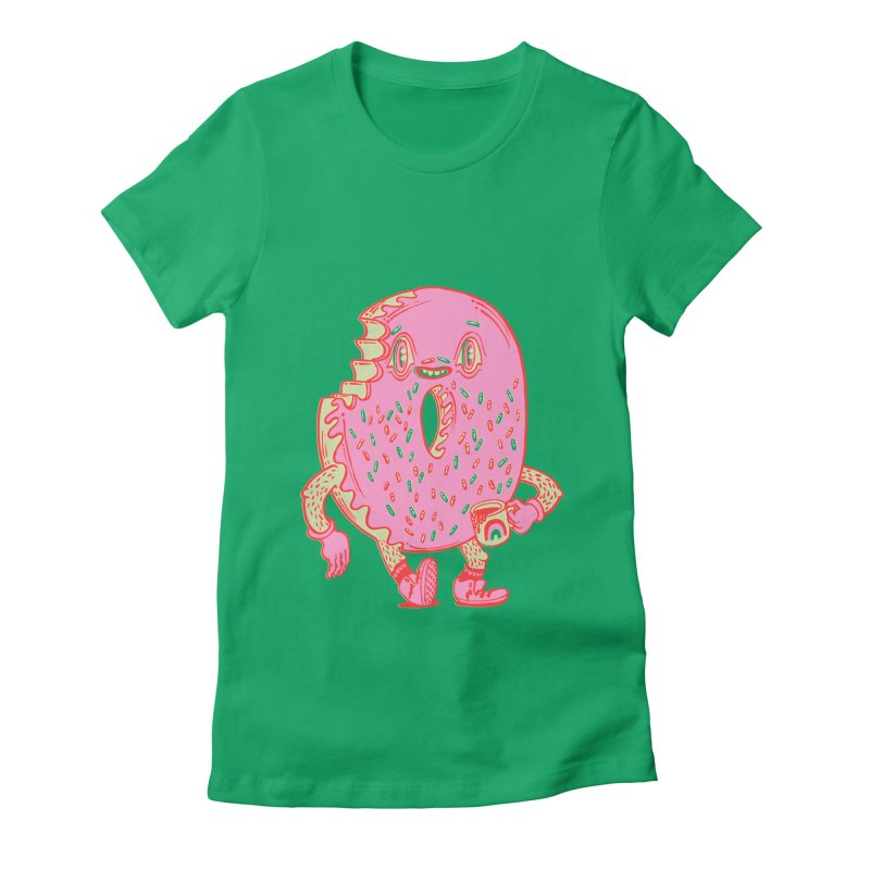 Donut's Favorite Rainbow Mug Women's Fitted T-Shirt by Tripper Dungan's Artist Shop