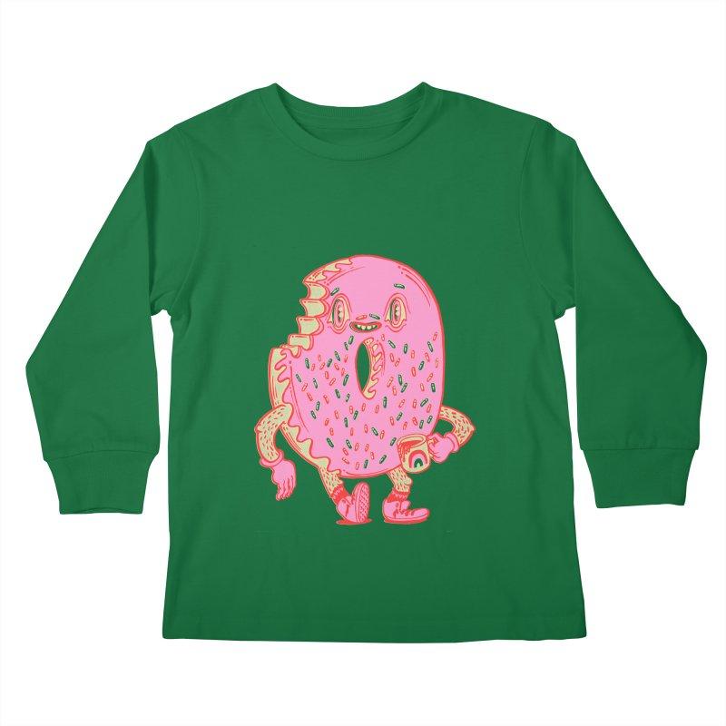 Donut's Favorite Rainbow Mug Kids Longsleeve T-Shirt by Tripper Dungan's Artist Shop