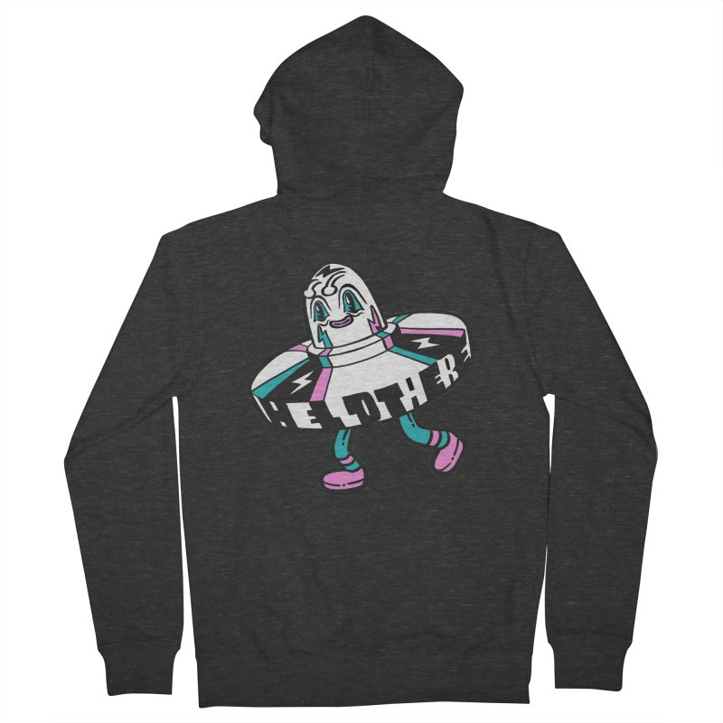 Hello There Men's French Terry Zip-Up Hoody by Tripper Dungan's Artist Shop