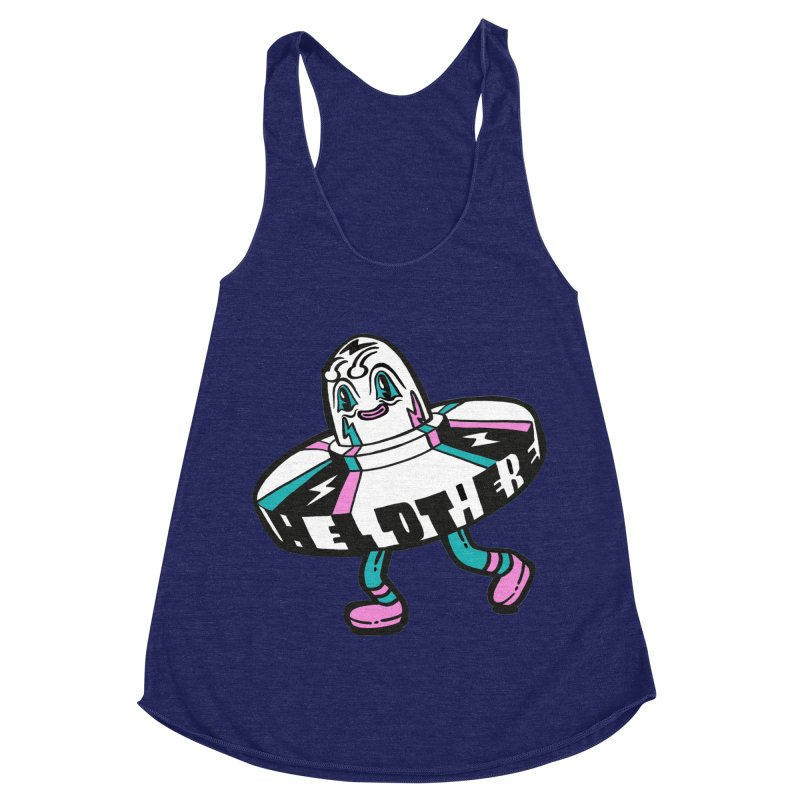 Hello There Women's Racerback Triblend Tank by Tripper Dungan's Artist Shop