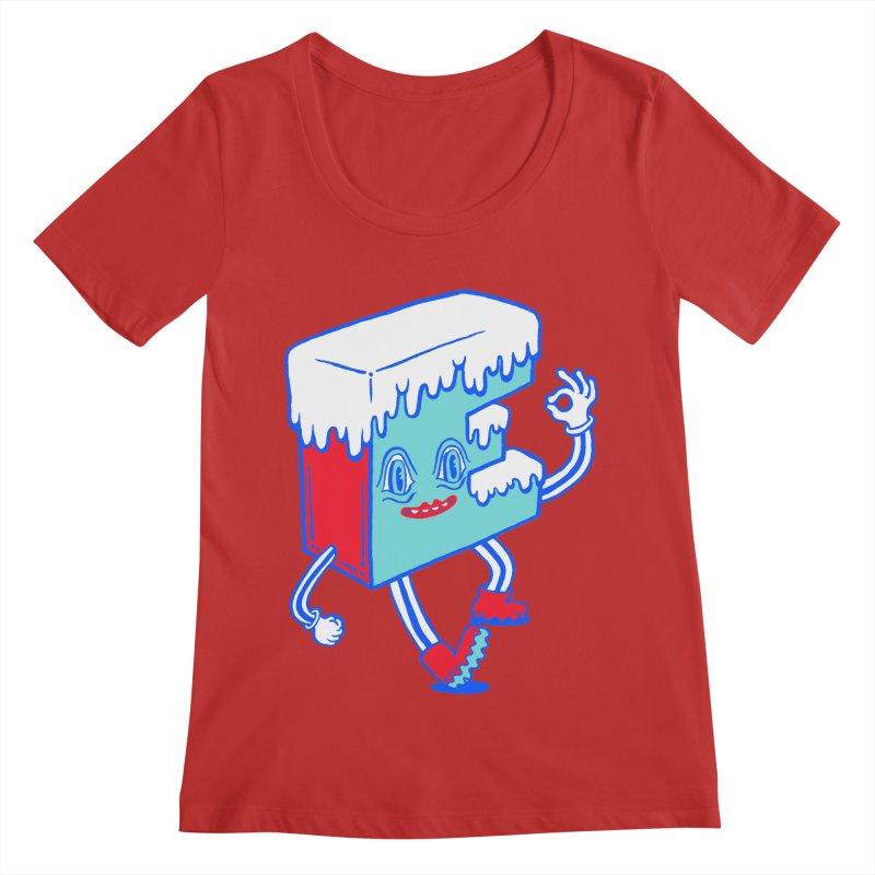 Ice E Women's Regular Scoop Neck by Tripper Dungan's Artist Shop