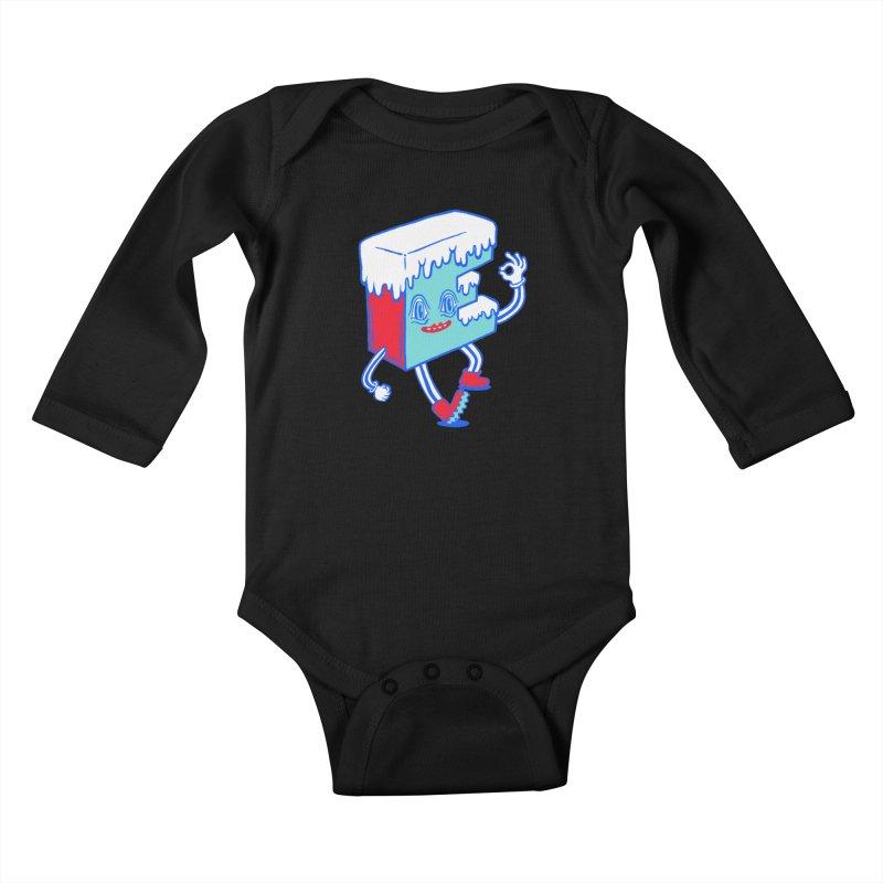 Ice E Kids Baby Longsleeve Bodysuit by Tripper Dungan's Artist Shop