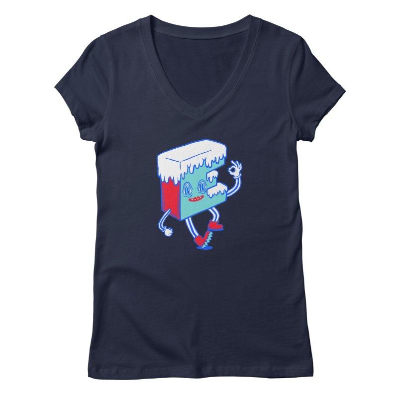 Ice E Women's Regular V-Neck by Tripper Dungan's Artist Shop