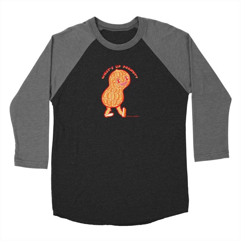 What's Up Peanut? Men's Baseball Triblend Longsleeve T-Shirt by Tripper Dungan's Artist Shop
