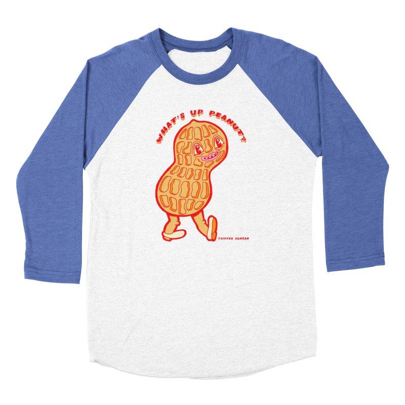 What's Up Peanut? Women's Baseball Triblend Longsleeve T-Shirt by Tripperdungan's Artist Shop
