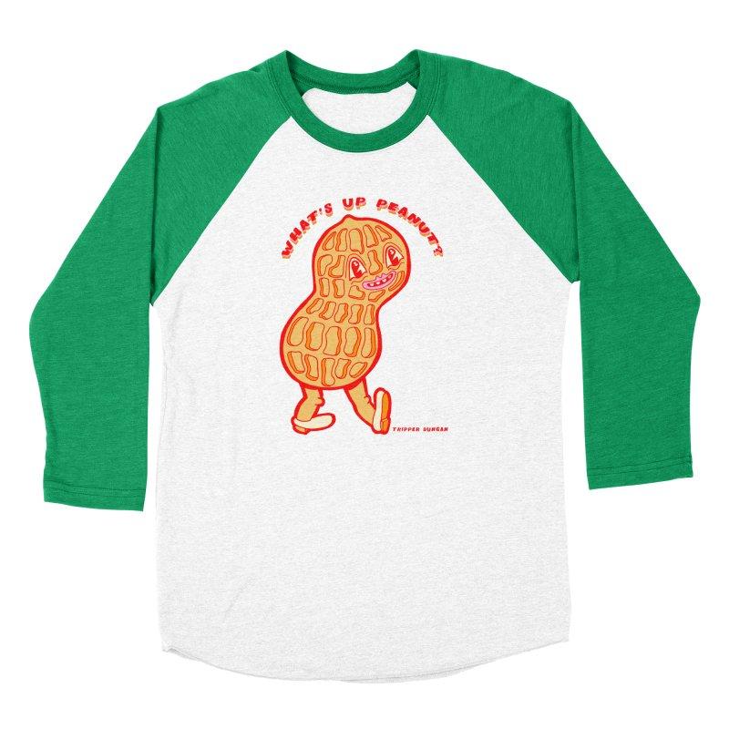 What's Up Peanut? Women's Baseball Triblend Longsleeve T-Shirt by Tripper Dungan's Artist Shop