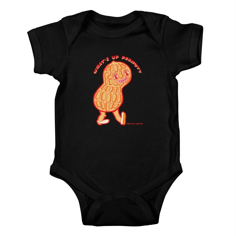 What's Up Peanut? Kids Baby Bodysuit by Tripper Dungan's Artist Shop