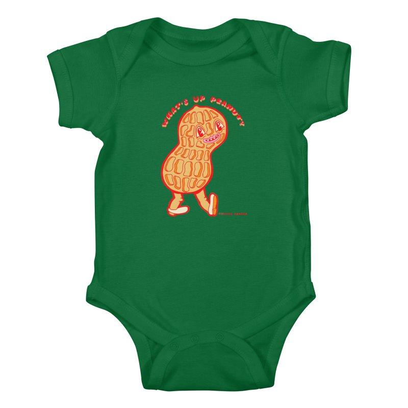 What's Up Peanut? Kids Baby Bodysuit by Tripperdungan's Artist Shop