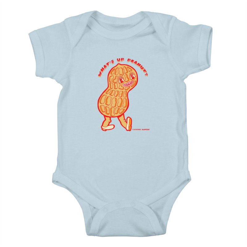 What's Up Peanut? Kids Baby Bodysuit by Tripperdungan's Artist Shop