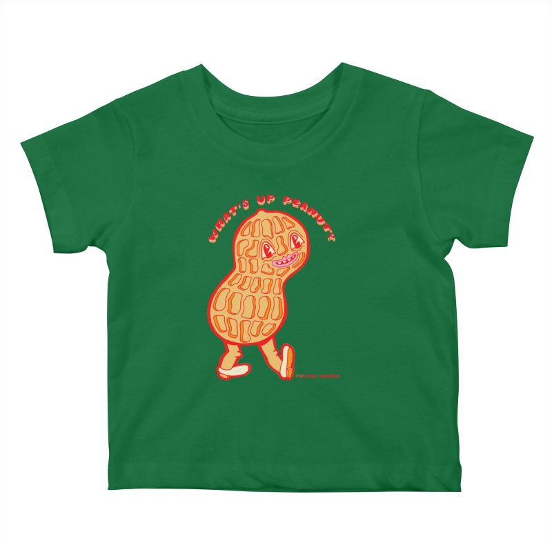 What's Up Peanut? Kids Baby T-Shirt by Tripper Dungan's Artist Shop