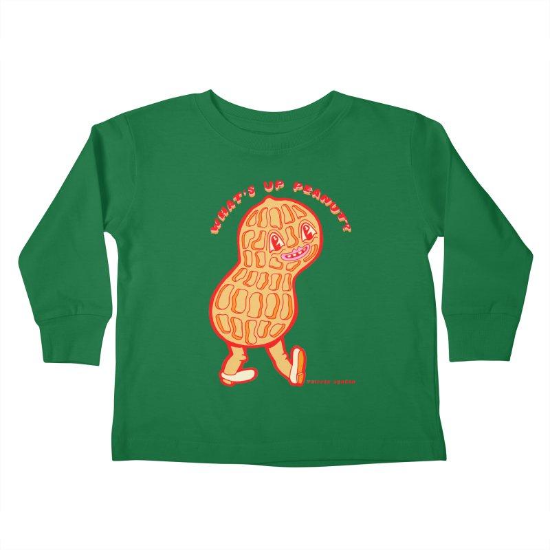 What's Up Peanut? Kids Toddler Longsleeve T-Shirt by Tripper Dungan's Artist Shop