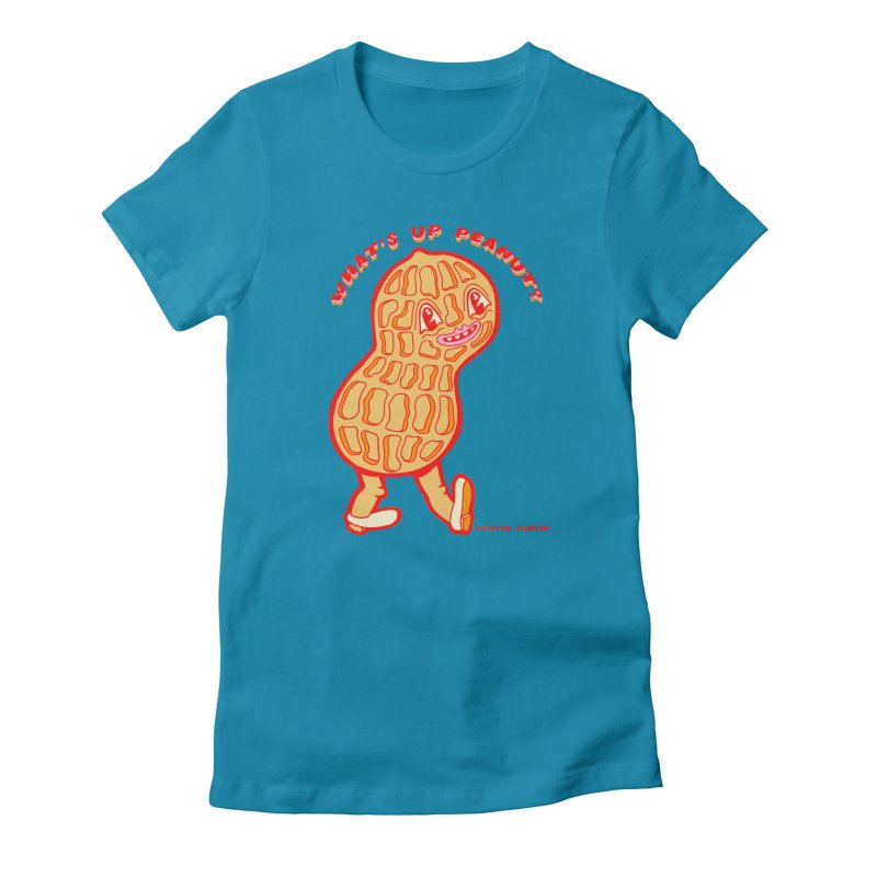 What's Up Peanut? Women's Fitted T-Shirt by Tripperdungan's Artist Shop