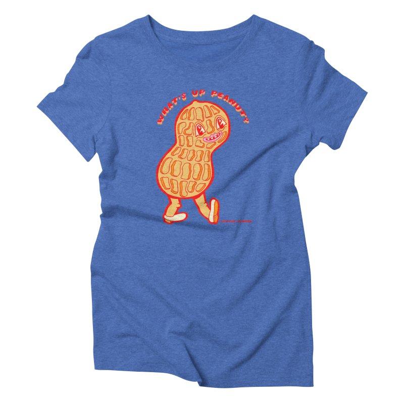 What's Up Peanut? Women's Triblend T-Shirt by Tripper Dungan's Artist Shop