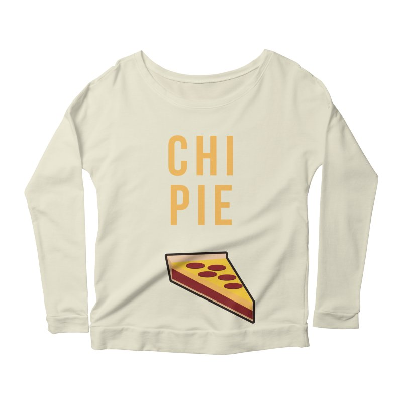 CHI PIE Women's Scoop Neck Longsleeve T-Shirt by Tristan Young