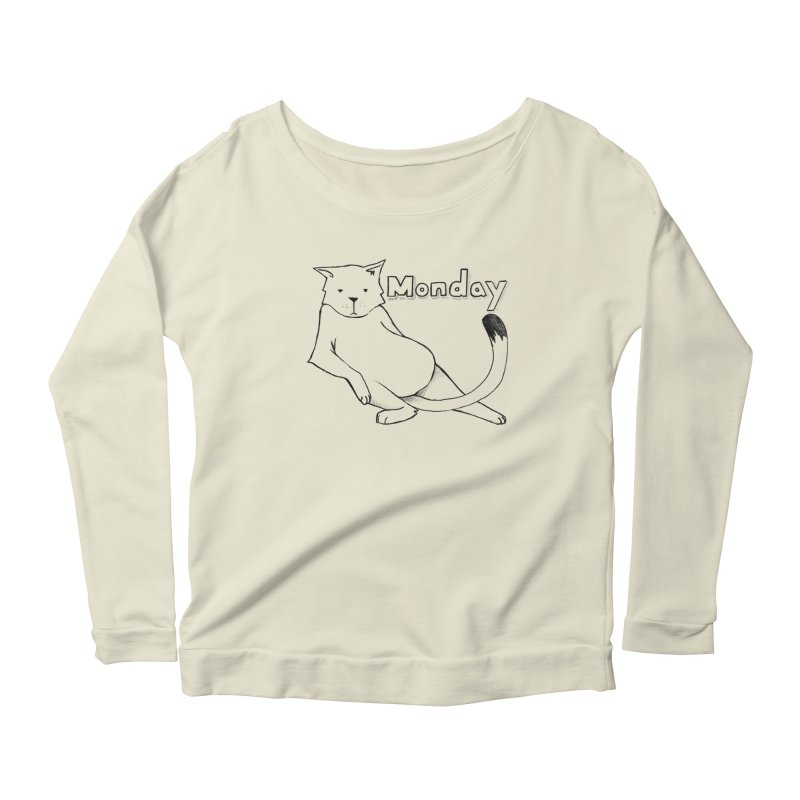 MONDAY Women's Scoop Neck Longsleeve T-Shirt by Tristan Young