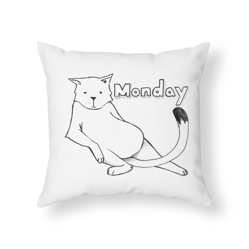 MONDAY Home Throw Pillow by Tristan Young