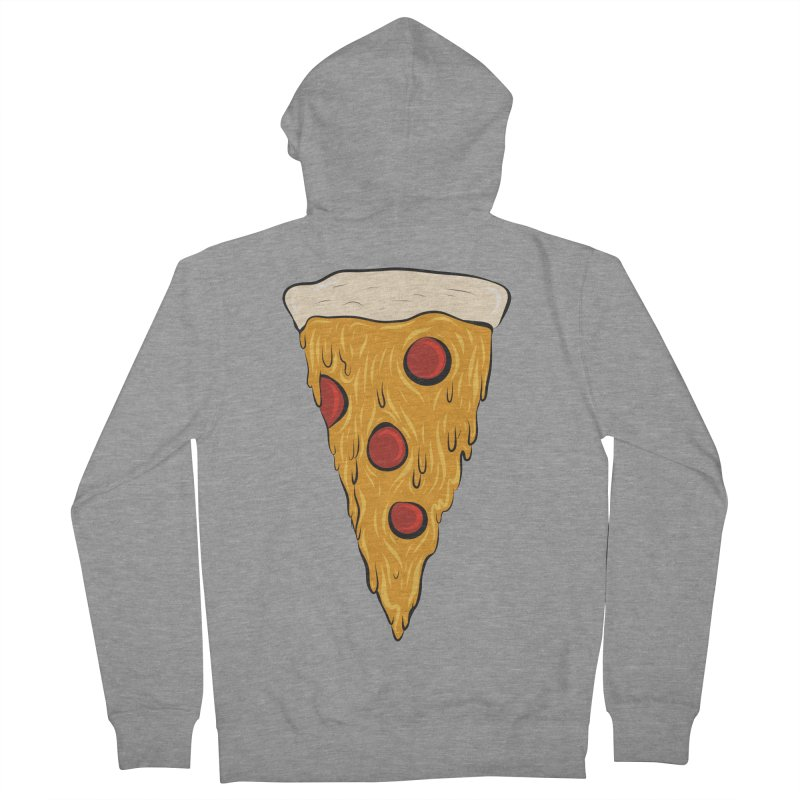 PIZZA SLICE Men's French Terry Zip-Up Hoody by Tristan Young