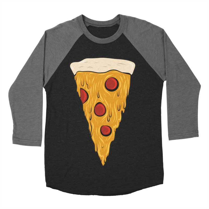 PIZZA SLICE Men's Baseball Triblend T-Shirt by Tristan Young