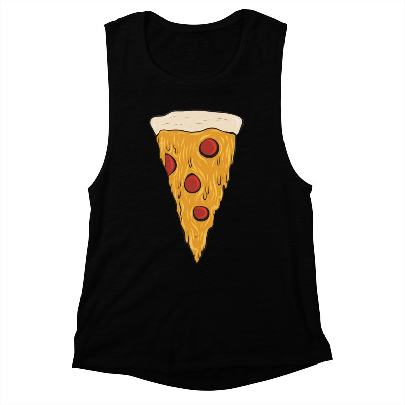 PIZZA SLICE Women's Muscle Tank by Tristan Young