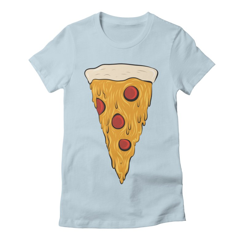 PIZZA SLICE Women's Fitted T-Shirt by Tristan Young