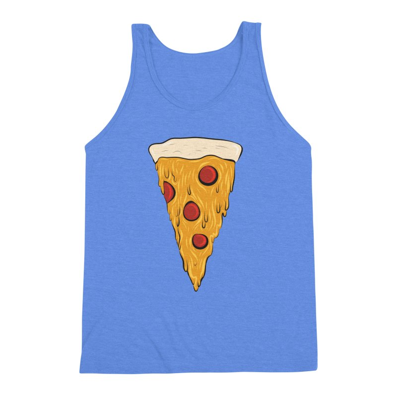 PIZZA SLICE Men's Triblend Tank by Tristan Young