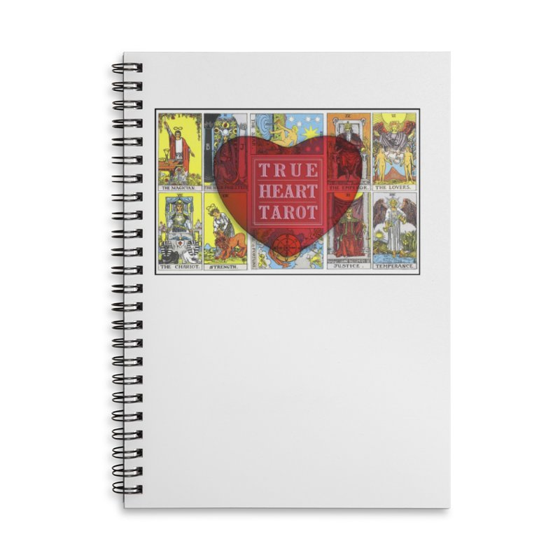 True Heart Tarot in Lined Spiral Notebook by True Heart by Rachel True