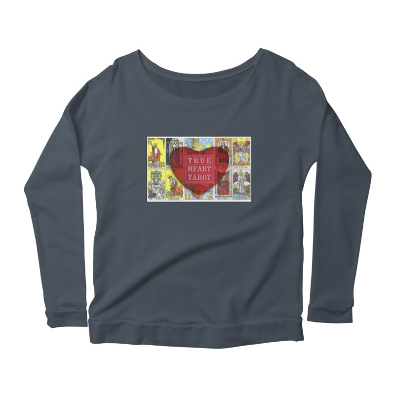 True Heart Tarot in Women's Scoop Neck Longsleeve T-Shirt Denim by True Heart by Rachel True