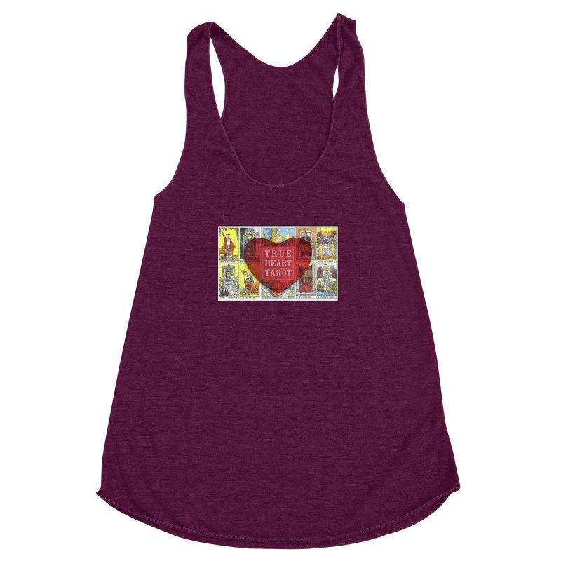 True Heart Tarot in Women's Racerback Triblend Tank Tri-Cranberry by True Heart by Rachel True